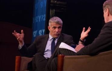Finanace Minister Yair Lapid is interviewed by CBS's Charlie Rose in New York.