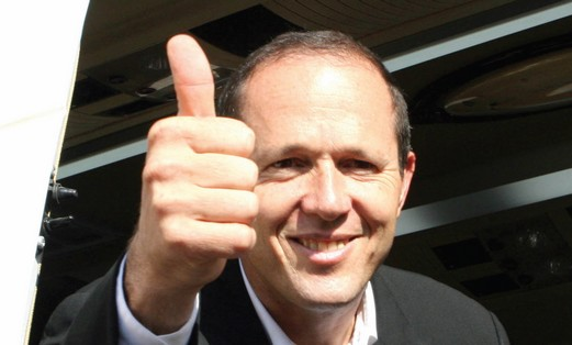 Nir Barkat was optimistic on election day in 2008.