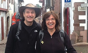 JEFF BARAK and his wife, Yemima, set out on the Camino de Santiago trail.