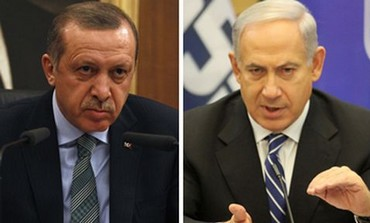 Prime Minister Binyamin Netanyahu and Turkish PM Recep Tayyip Erdogan