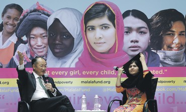 Malala Yousafzai, who has become a symbol of women's struggle for education.