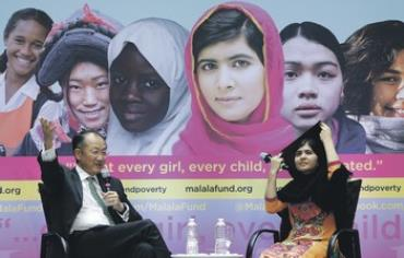Malala Yousafzai, who has become a symbol of women's struggle for education.
