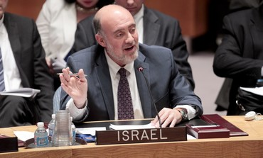 Israel's Ambassador to the UN Ron Prosor speaking to the UN Security Council, October 22, 2013.