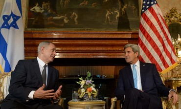 Netanyahu and Kerry meet in Rome, October 23, 2013