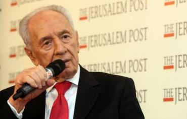 President Shimon Peres speaks at the Jerusalem Post Diplomatic Conference on October 24, 2013.