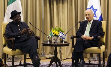 President Shimon Peres and Nigerian Pres. Goodluck Johnson