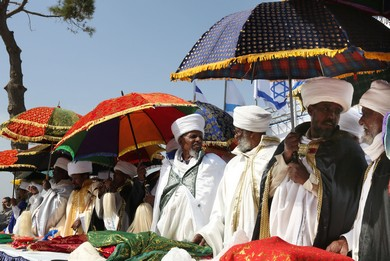 Ethiopians celebrate Sig'd in Jerusalem, 2013.