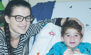 5-year-old Roman with his mother, Katya, who donated a kidney for him.