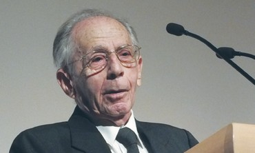 Former speaker of the Knesset Shlomo Hillel mark at the Menachem Begin Heritage Center.
