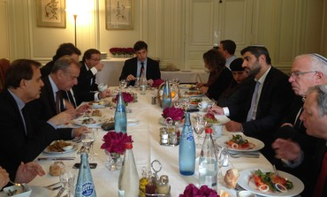 MK Uri Ariel meeting with French parliamentarians