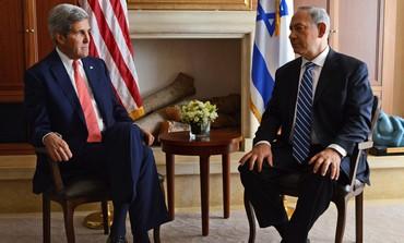 Pm Netanyahu and US Secretary of State John Kerry