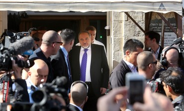 Liberman at court following acquittal , Nov. 6 2013