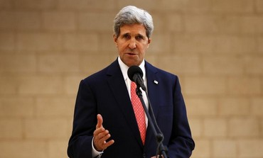 US Secretary of State John Kerry in Bethlehem November 6, 2013.