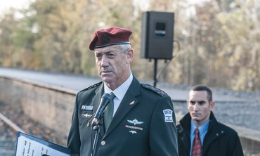 IDF CHIEF OF STAFF Lt.-Gen. Benny Gantz speaks in Berlin yesterday.