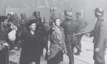 A SCENE from the Warsaw Ghetto taken in May, 1943.