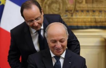 French President Francois Hollande and FM Laurent Fabius
