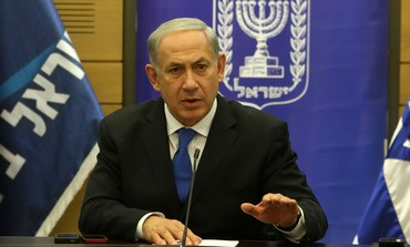 Prime Minister Netanyahu at a Likud Beytenu faction meeting, November 4, 2013.