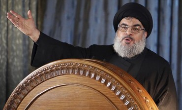 Hezbollah leader Hassan Nasrallah addresses supporters on the eve of Ashura in Beirut, November 13.