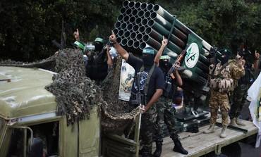 Hamas rally in Gaza marking a year to Operation Pillar of Defense, November 14, 2013.