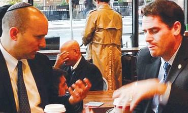 Naftali Bennett and Israeli ambassador to US Ron Dermer
