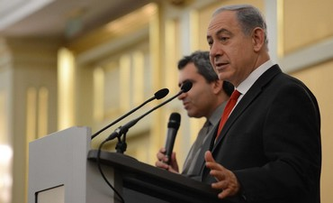 Prime Minister Binyamin Netanyahu in Russia, November 21, 2013.