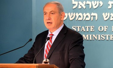 Prime Minister Binyamin Netanyahu giving a statement about Iran interim deal, November 24, 2013.
