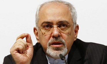 Iranian Foreign Minister Javad Zarif speaking to media following signing of interim deal, Nov 24.