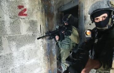 Counter-terrorism soldiers at the IDF's Mitkan Adam base near Modi'in.