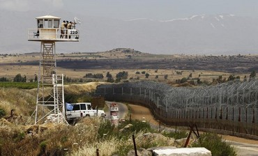 Quneitra border crossing between Israel and Syria