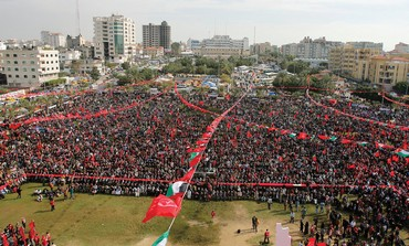 Palestinian rally in Gaza, December 2013.