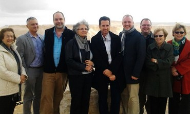 US delegation members at David Ben-Gurion's grave