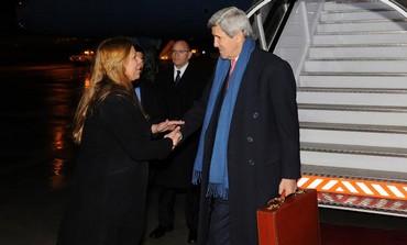 US Secretary of State John Kerry arriving in Israel, December 12, 2013.
