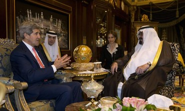 US Secretary of State John Kerry meets with Saudi King Abdullah