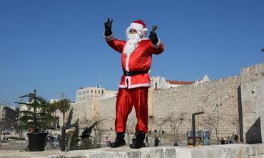 Santa in Jerusalem, December 22 2013