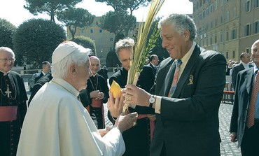 RABBI MARK WINER with then-Pope Benedict XVI in 2006.