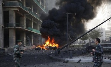 An explosion rocked the Lebanese capital Beirut, December 27, 2013.
