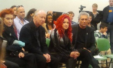 Cyndi Lauper visits music school in Tel Aviv