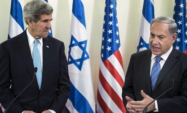 US Secretary of State John Kerry and PM Binyamin Netanyahu