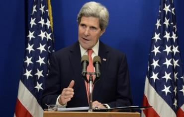US Secretary of State John Kerry addresses the press before leaving Israel, January 5, 2014.