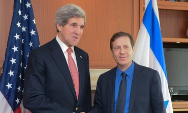 John Kerry and Isaac Herzog