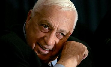 Former Israel prime minister Ariel Sharon speaks to the media