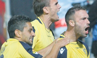 Maccabi Tel Aviv players celebrate 370