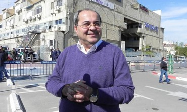 MK Ahmed Tibi at a rally against the Begin Prawer Plan