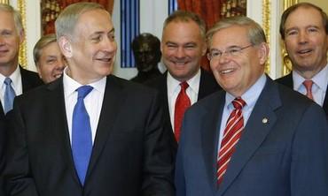Prime Minister Netanyahu meeting with Senate Foreign Relations Committee Chairman Robert Menendez.