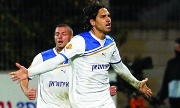 Barak Badash scored twice in Ironi Kiryat Shmona's 3-1 home win over Maccabi Tel Aviv.