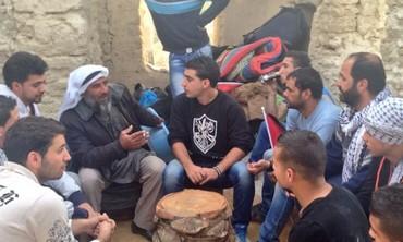 Palestinians at Ein Hijleh, January 31, 2014