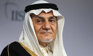 Prince Turki Al Faisal Al Saud is seen here in Bahrain