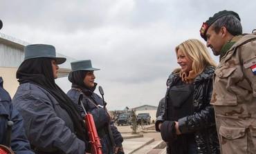 Dutch Defense Minister Jeanine Hennis-Plasschaert visits Afghan soldiers
