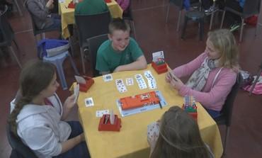 Kids playing Bridge