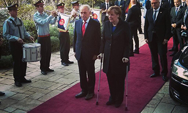 President Peres and German Chancellor Merkel‏